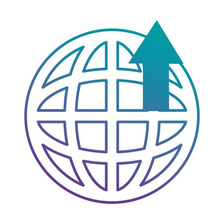 矢印アップベクトルイラストデザインの惑星球  イラスト・ベクター素材