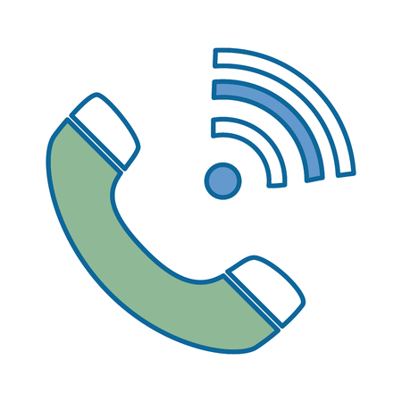 receiver: phone service isolated icon vector illustration design