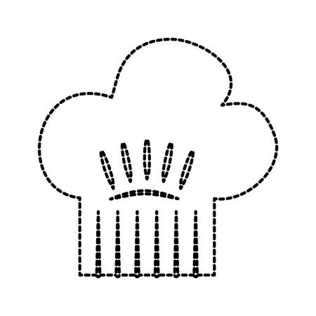 kitchen hat of chef cooking restaurant symbol vector illustration