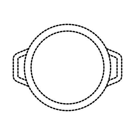 pan braadpan braadpan handvat apparatuur vectorillustratie Stock Illustratie