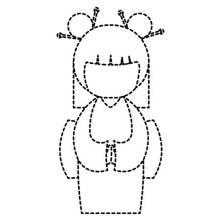 Weinig Japans vector de illustratieontwerp van het poppenkarakter Stockfoto - 87669399