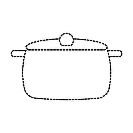 soup pan cap equipment cooking icon vector illustration Çizim