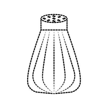 salt cooking ingredient kitchen cartoon vector illustration