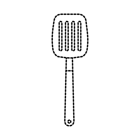 spatula for frying kitchen utensil icon vector illustration
