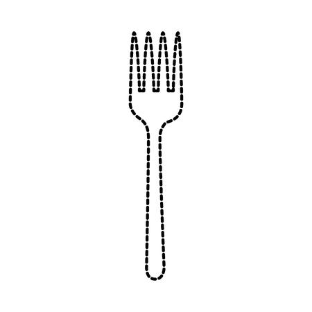 kitchen fork cutlery utensil for eating vector illustration