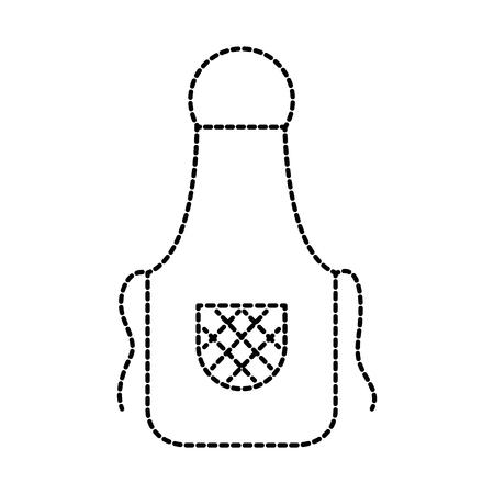 kitchen apron chef uniform for cooking vector illustration 向量圖像