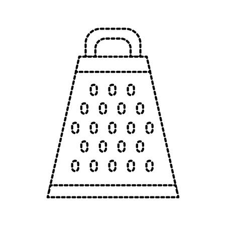 grater food preparation cooking equipment handle vector illustration