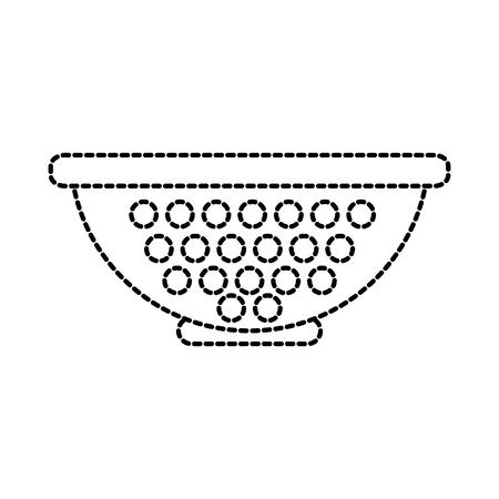 colander pasta strainer utensil kitchen vector illustration
