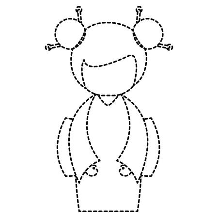 little japanese doll character vector illustration design Stock Vector - 87668507