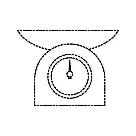 kitchen scale measure balance food healthy vector illustration Illustration