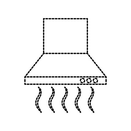air extractor kitchen furniture element house interior vector illustration
