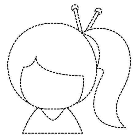 little japanese doll character vector illustration design Illusztráció