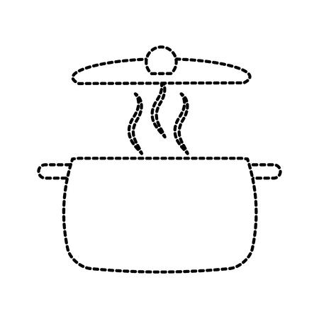 soep pan cap apparatuur koken pictogram vectorillustratie