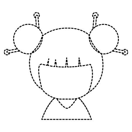 little japanese doll   character vector illustration design