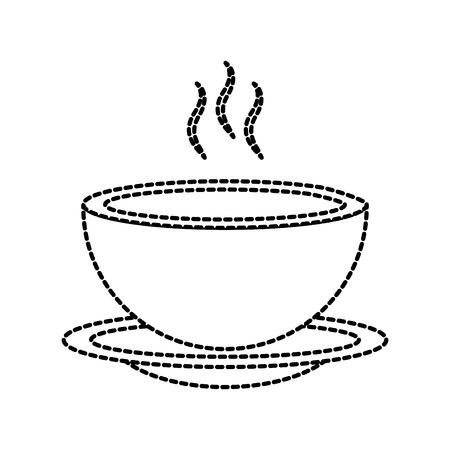 menu restaurant soep kom schotel warm diner vectorillustratie