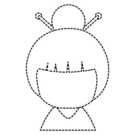 little japanese doll character vector illustration design Stock Vector - 87669523
