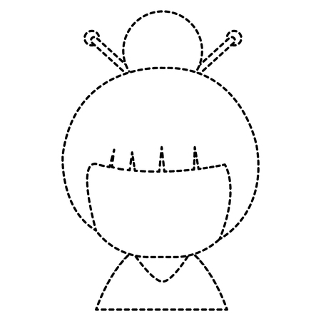 Weinig Japans vector de illustratieontwerp van het poppenkarakter Stockfoto - 87669523