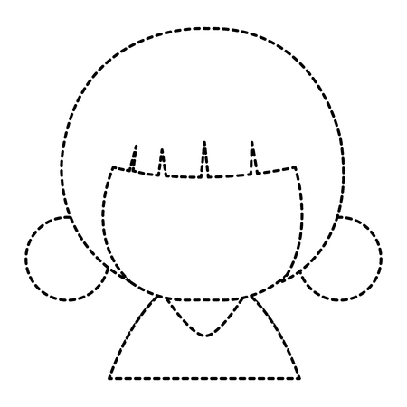 little japanese doll character vector illustration design Illustration