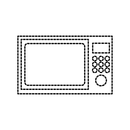 전자 레인지기구 전자 주방 장비 벡터 일러스트 레이션 일러스트