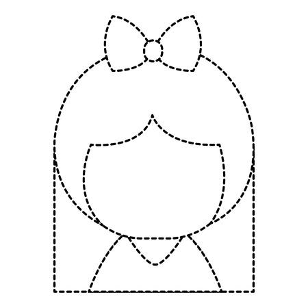 little japanese doll character vector illustration design Ilustrace