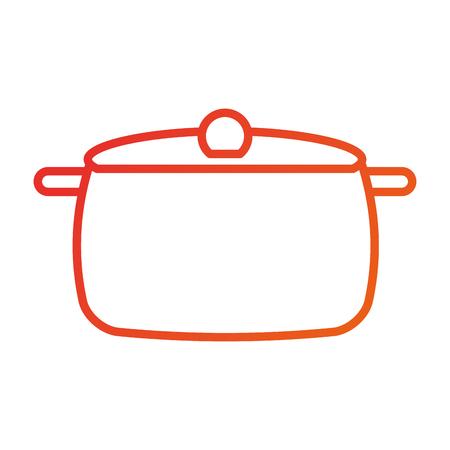 roestvrij pot gereedschap keuken voor het koken van vectorillustratie Stock Illustratie