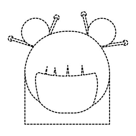 little japanese doll head character vector illustration design Stock Vector - 87668699