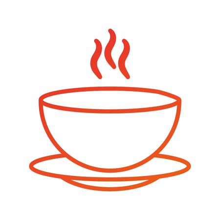 메뉴 레스토랑 수프 그릇 접시 뜨거운 저녁 벡터 일러스트 레이션