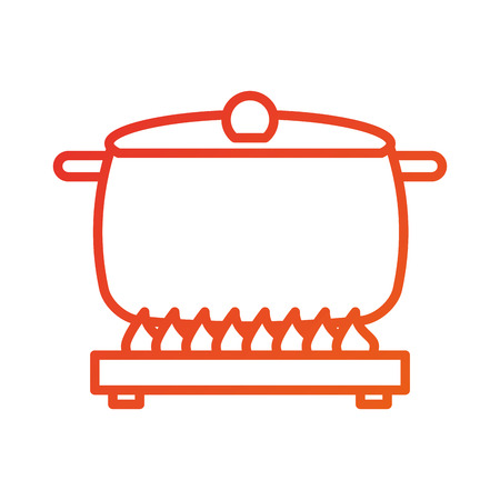 soup pan cap equipment cooking icon vector illustration Illustration