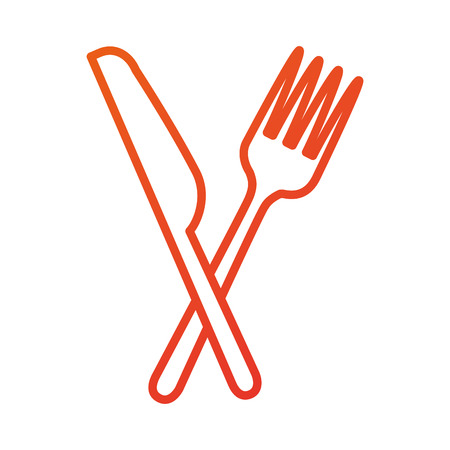 restaurant food fork and knife symbol vector illustration