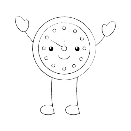 cartoon alarm clock time alert bell hour vector illustration Ilustrace