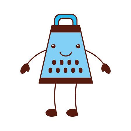 Karikaturreibe-Lebensmittelzubereitung, die Ausrüstungshandgriffvektorillustration kocht Standard-Bild - 87669534