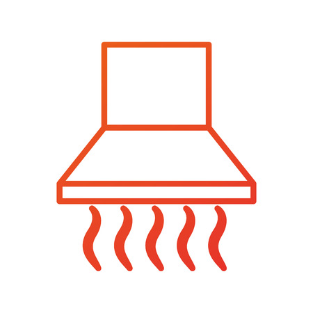 空気抽出器キッチン家具要素家インテリアのベクトル図  イラスト・ベクター素材