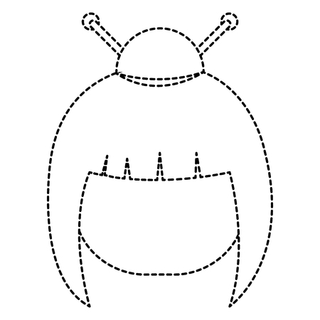little japanese doll head character vector illustration design