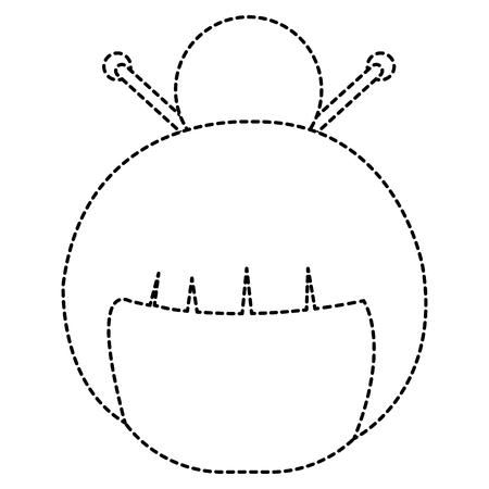 little japanese doll head character vector illustration design Stock Vector - 87670322