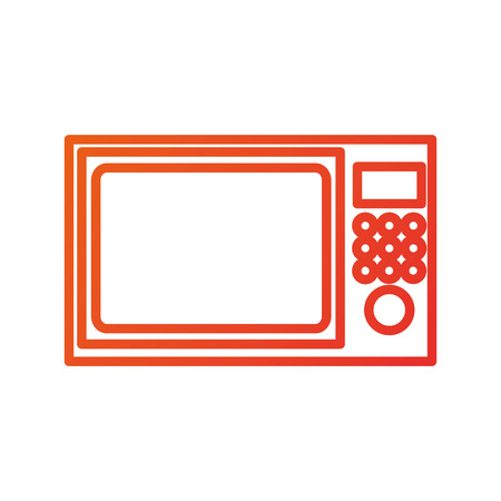 microwave appliance electronic kitchen equipment vector illustration