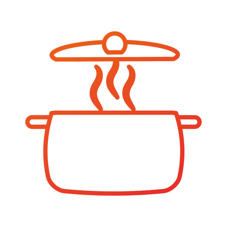 stainless pot utensil kitchen for cooking vector illustration Illustration