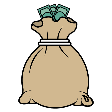 geld tas geïsoleerd pictogram vector illustratie ontwerp