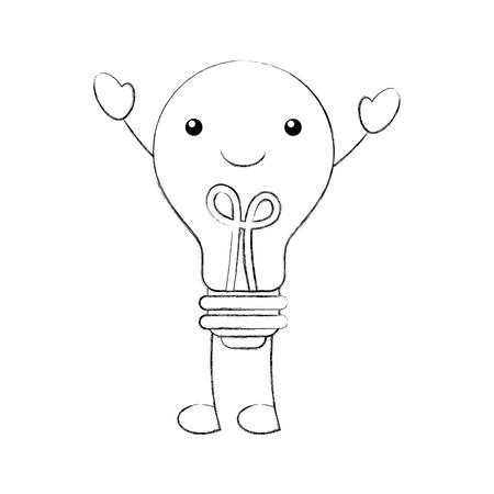 bulb light idea creativity concept vector illustration Ilustração