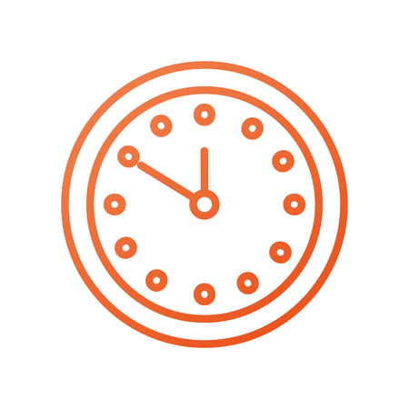 round clock time minute day timer vector illustration