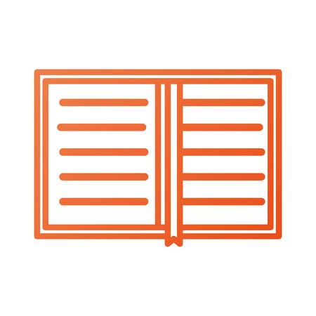 本個人主催のプランナーのブックマーク ベクトル図のオーバー ヘッド ビュー