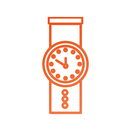 hand watch time business timer plan concept vector illustration