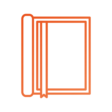 notebook with bookmark stationery office object element Иллюстрация