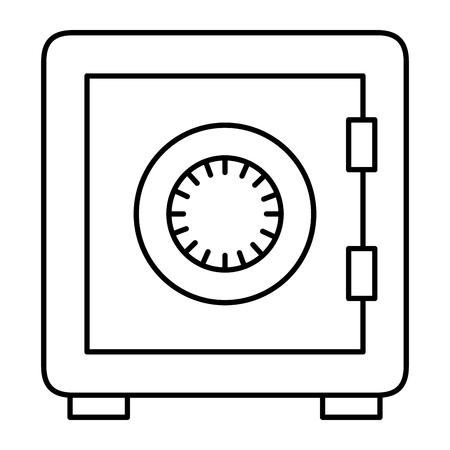 safe box isolated icon vector illustration design Illustration
