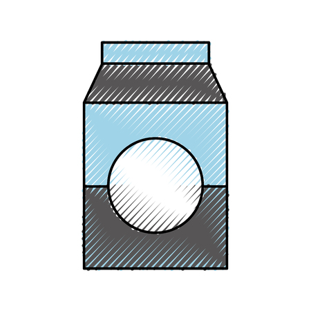 milk or juice box carton with drinking vector illustration 向量圖像