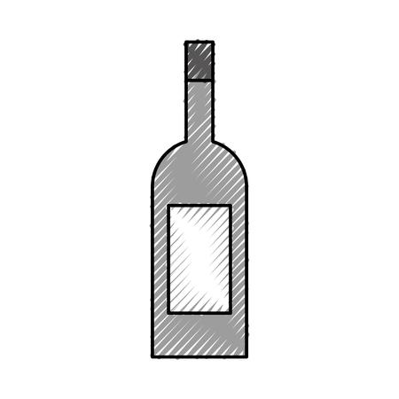 Weinflasche Getränk Getränke Markt Produkt Vektor-Illustration Standard-Bild - 87671380