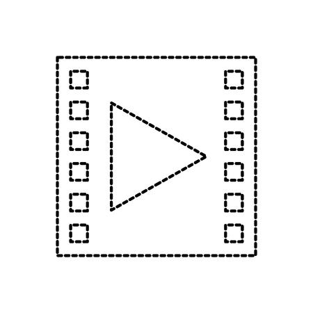 video movie player button social media vector illustration