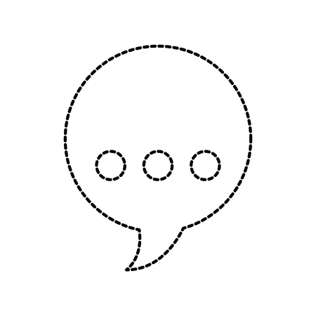 spreek bubbel chatbericht praten symbool vectorillustratie Stock Illustratie