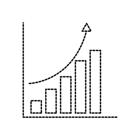 financial graph chart bar arrow growth concept vector illustration Illustration