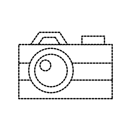 photographic camera flash button lens social media vector illustration Illusztráció