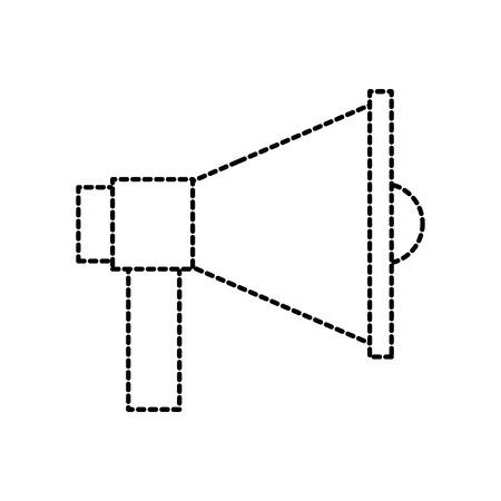 megaphone loudspeaker volume marketing advertising vector illustration Stock Vector - 87671608